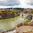 View of Rome cityscape, the Tiber River — Stock Photo