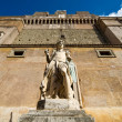 Archangel Michael statue in Castel Sant'Angelo, Rome - Stock Photo
