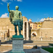 Bronze statue of emperor Nervin Rome — Stock Photo #15279429