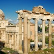 Постер, плакат: The columns of the Temple of Saturn Rome