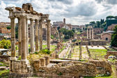 Roman antiquity: View of the Roman Forum in Rome — Stock Photo