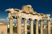 Columns of the temple of Saturn in Rome — Стоковое фото