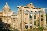 The columns of the Temple of Saturn, Rome — Stock Photo