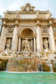 The famous Trevi Fountain in Rome, Italy — Stock Photo