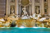 The famous Trevi Fountain at night, Rome, Italy — Stock Photo