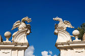 Winged dragons of Villa Borghese, Rome — Stock Photo