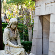 Tomb in the non-Catholic cemetery in Rome, Italy — Stock Photo