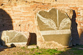 Part of the decoration of Baths of Caracalla in Rome, Italy — Stock Photo