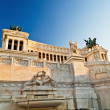 View of the Vittoriano building on the Piazza Venezia, Rome - Stock Photo