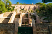 Ancient fortifications on the Aventine Hill in Rome — Stock Photo