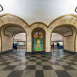 Постер, плакат: The metro station Novoslobodskaya in Moscow Russia