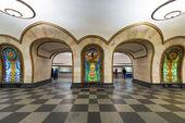 The metro station Novoslobodskaya in Moscow, Russia — Stock Photo