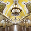 The metro station Komsomolskaya in Moscow, Russia — Stock Photo