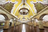Tren, metro istasyonu komsomolskaya, moskova, rusya — Stok fotoğraf
