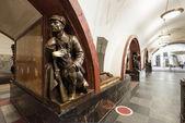 The metro station Ploschad Revolyutsii in Moscow, Russia — Stock Photo