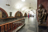 The metro station Ploschad Revolutsii in Moscow, Russia — Stock Photo