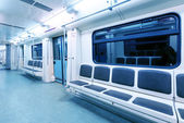 Interior view of a subway car — Stock Photo