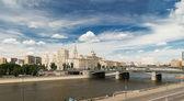 Vista di mosca. ponte di borodinsky. — Foto Stock