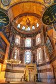 Interior of the Hagia Sophia in Istanbul, Turkey — Stock Photo