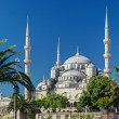View of the Blue Mosque (Sultanahmet Camii) in Istanbul, Turkey — Stock Photo