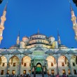 Stock Photo: Facade Blue Mosque at night in Istanbul, Turkey