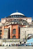 View of the Hagia Sophia in Istanbul, Turkey — Stock Photo