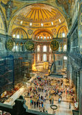 Inside the Hagia Sophia in Istanbul, Turkey — Stock fotografie