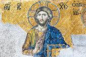 Ancient mosaic inside the Hagia Sophia in Istanbul, Turkey — Stock Photo