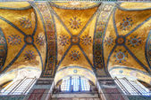 The ceiling of the Hagia Sophia in Istanbul, Turkey — Stock Photo