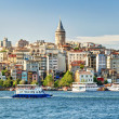 View of Galata district, Istanbul, Turkey — Foto Stock