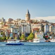 View of Galata district, Istanbul, Turkey — Stockfoto