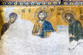 Ancient mosaic inside the Hagia Sophia in Istanbul, Turkey — Stock Photo