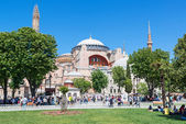 View of the Hagia Sophia in Istanbul, Turkey — Stock Photo