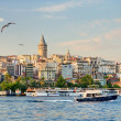 View of Galata district at sunset, Istanbul, Turkey — Stock Photo #26820153