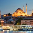 Stock Photo: The historical center of Istanbul in the evening, Turkey