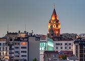 Wieża galata stambuł nocą — Zdjęcie stockowe