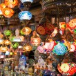 Colorful Turkish lanterns offered for sale at the Grand Bazaar in Istanbul — Foto de Stock