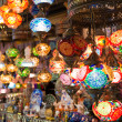 Colorful Turkish lanterns offered for sale at the Grand Bazaar in Istanbul — Stock Photo #27154745
