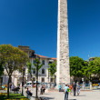 Stock Photo: Tourists visiting Walled Obelisk at Hippodrome in Istanbul