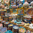 A variety of oriental items offered for sale at the Grand Bazaar in Istanbul, Turkey — Lizenzfreies Foto