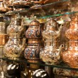 Eastern dishes for tea sold at the Grand Bazaar in Istanbul — Stock Photo