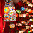 Colorful Turkish lanterns offered for sale at the Grand Bazaar  in Istanbul, Turkey — Stok fotoğraf