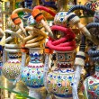 Bright colorful hookahs in the Grand Bazaar, Istanbul, Turkey — Stock Photo