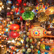 Colorful Turkish lanterns offered for sale at the Grand Bazaar in Istanbul, Turkey — Stock Photo #27387725