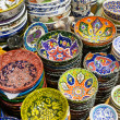 Turkish ceramics in the Grand Bazaar in Istanbul, Turkey — Stock Photo