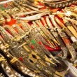 East edged weapons sold in Grand Bazaar in Istanbul, Turkey — Stock Photo #27388167