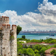 View of Istanbul from Yedikule Fortress — Stock fotografie