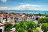 伊斯坦堡和马尔马拉海的从 yedikule 堡垒的看法 — 图库照片