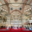 Inside the Fatih Mosque in Istanbul, Turkey — Stock Photo