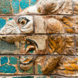 Fragment of the Babylonian Ishtar Gate in the Archaeology Museum — Stock Photo